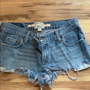 abercrombie and fitch jean shorts.